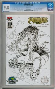 Witchblade #100 Michael Turner VIP Sketch Variant CGC 9.8 Image Top Cow comic book